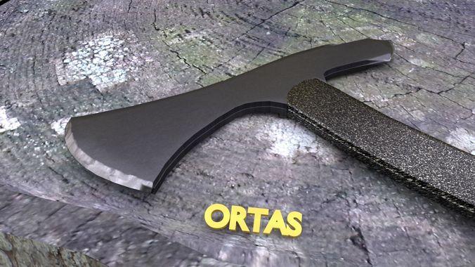 ortas axe no 11 tactical tomahawk 3d printable 3d model obj mtl fbx stl 1