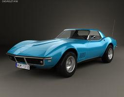 3D Chevrolet Corvette C3 Convertible 1968