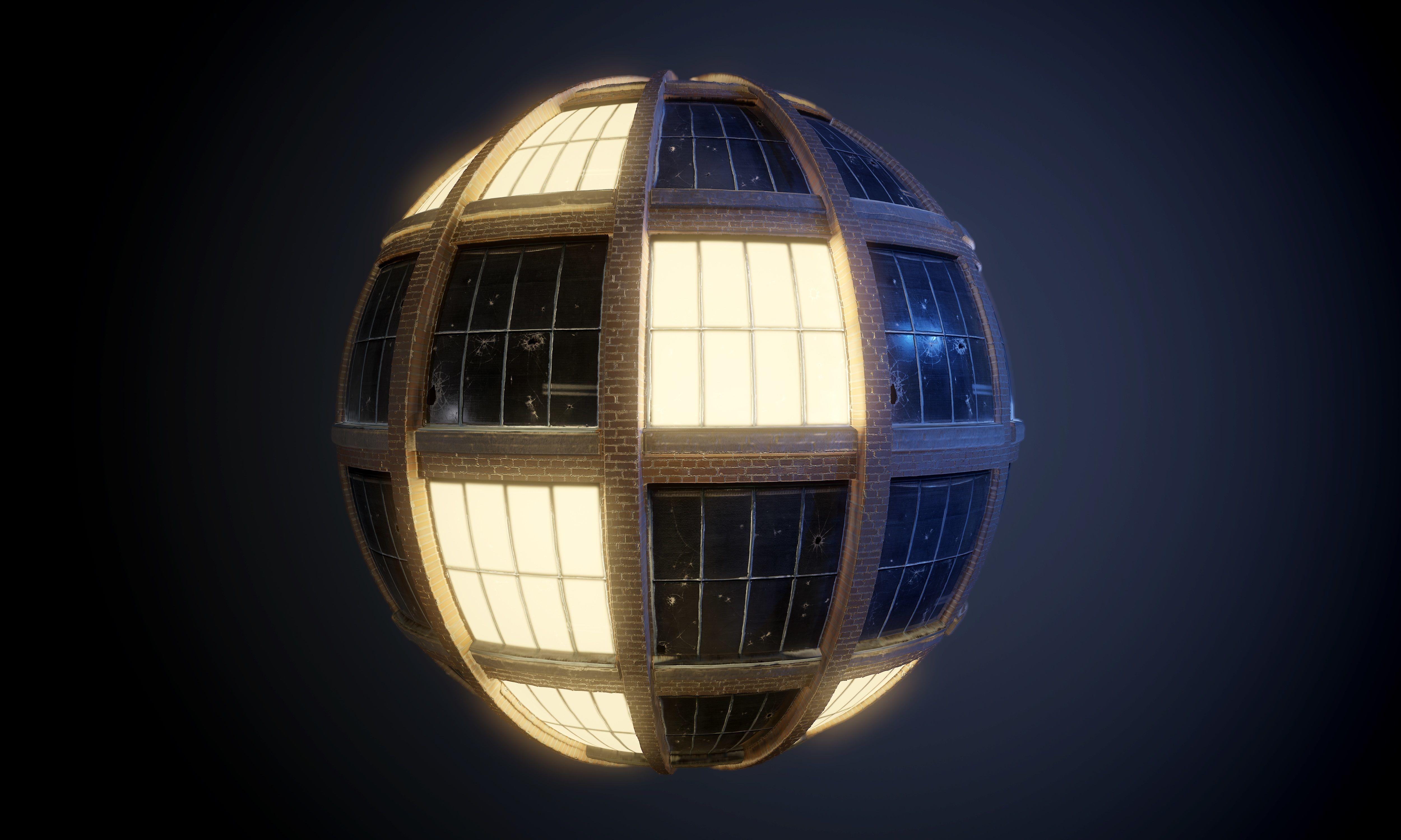 City Building Windows PBR SEAMLESS Texture