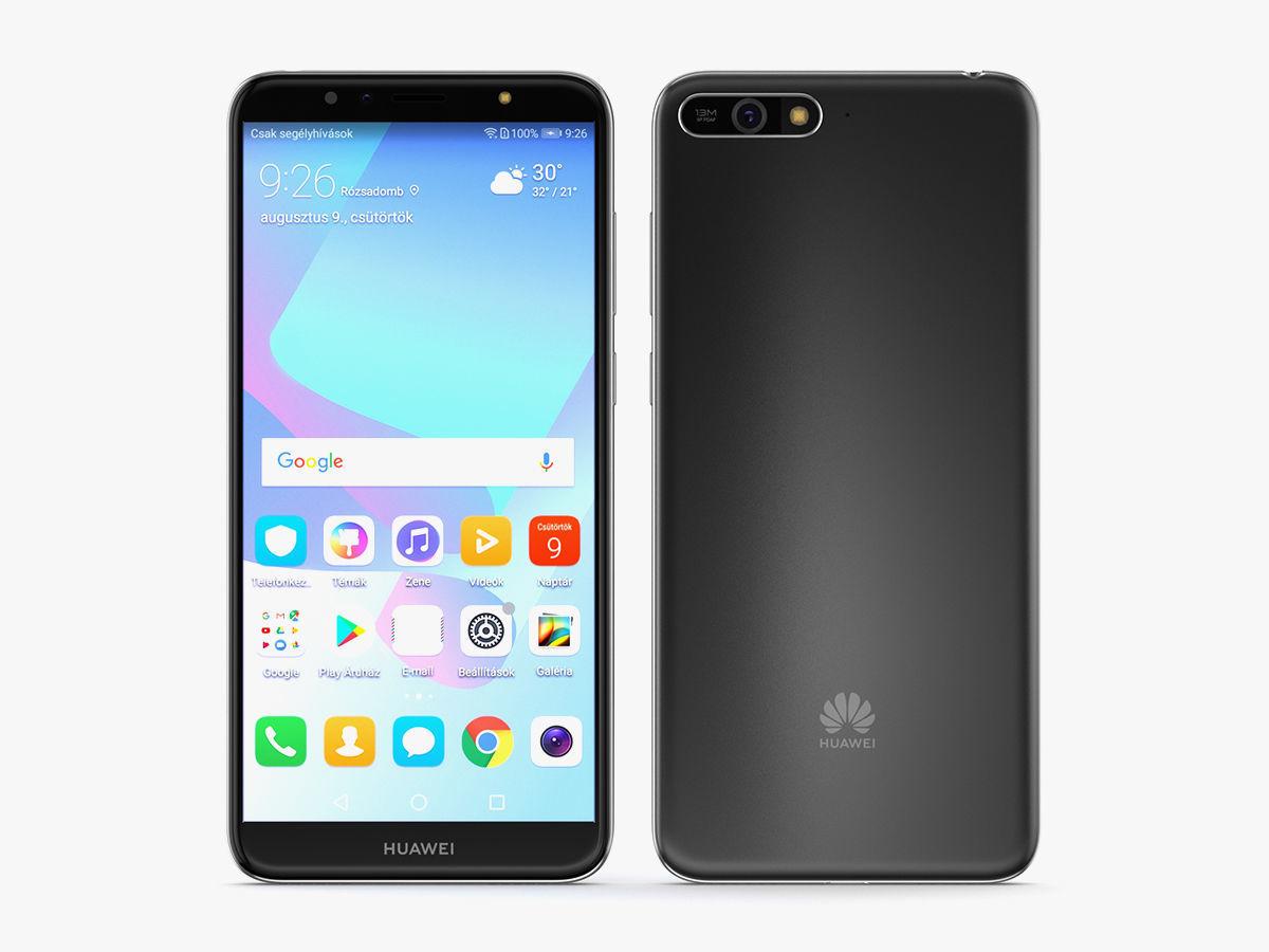 Huawei Y6 2018 Black | 3D model