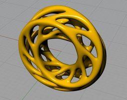 Moebius ring statue 3D