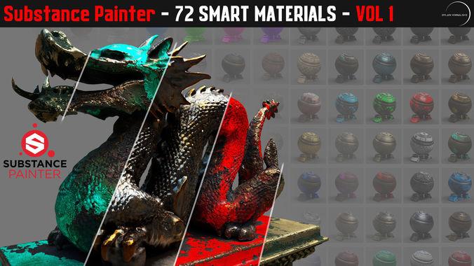72 smart materials for substance painter 3d model  1