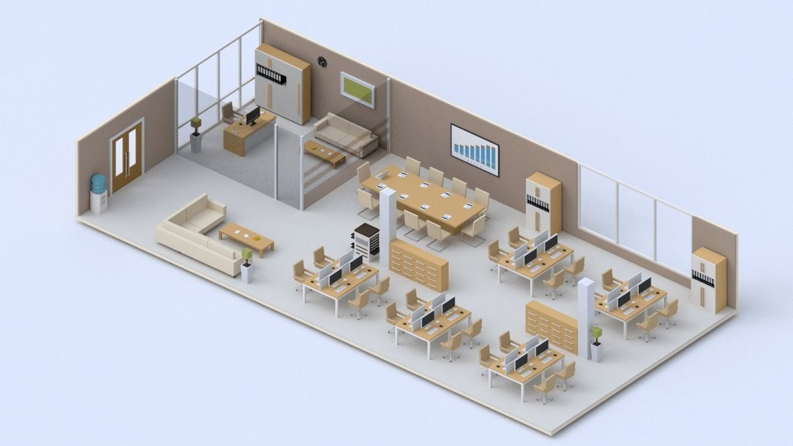 Low poly Office