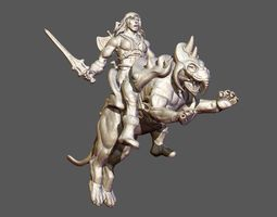 3D printable model Heman and BattleCat sculpture