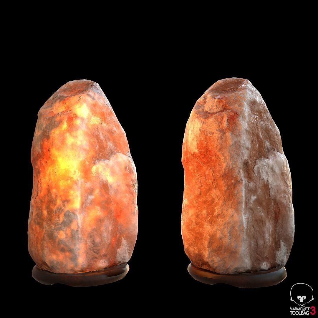 Himalayan Salt Lamp Pbr 3d Model