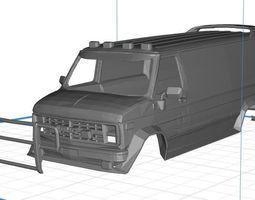 GMC Ventrura A Team Body Van Printable 3D