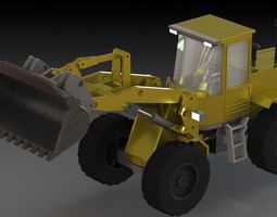 3D model Back hoe Loader