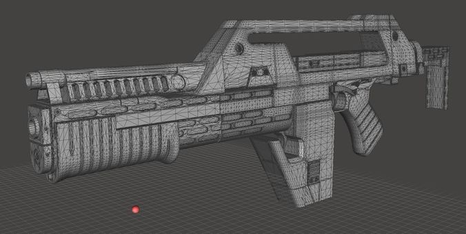 pulse rifle digital files complete with walk-throughs 3d model stl pdf 1