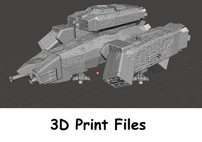 uscss nostromo mining vessel digital file for 3d printing 3d model stl 1