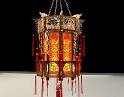 lanterns 3D model Chinese red lantern
