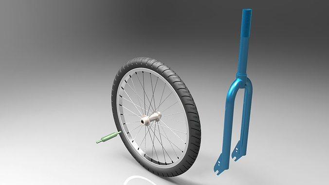 bicycle fork 3d model sldprt sldasm slddrw ige igs iges 1
