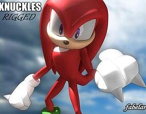 3D model Knuckles rigged