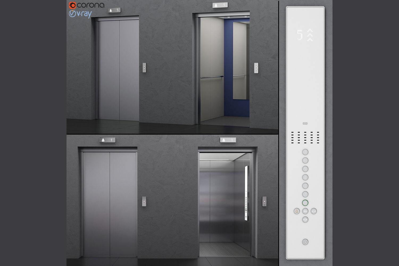 Elevator Kone MONOSPACE 500 | 3D model