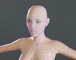 3D asset Female base mesh topology