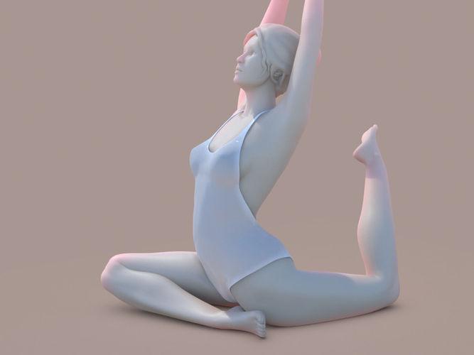 woman yoga 06 3d model obj mtl stl 1