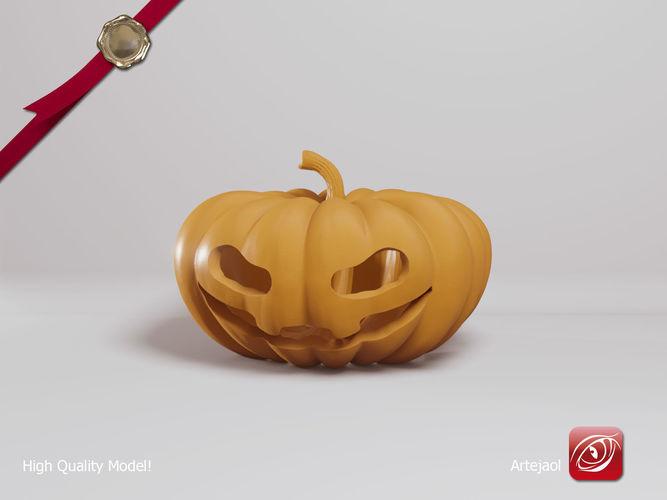 Halloween Pumpkin 3D printable model art   CGTrader