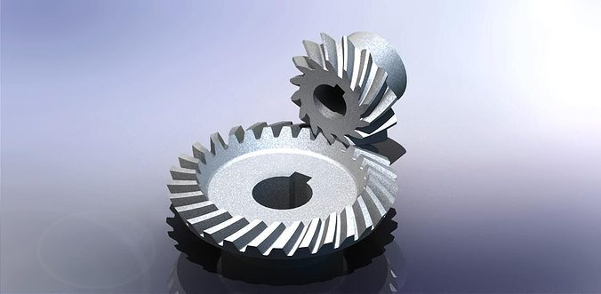 Bevel Gear Animation : Spiral bevel gear d cgtrader