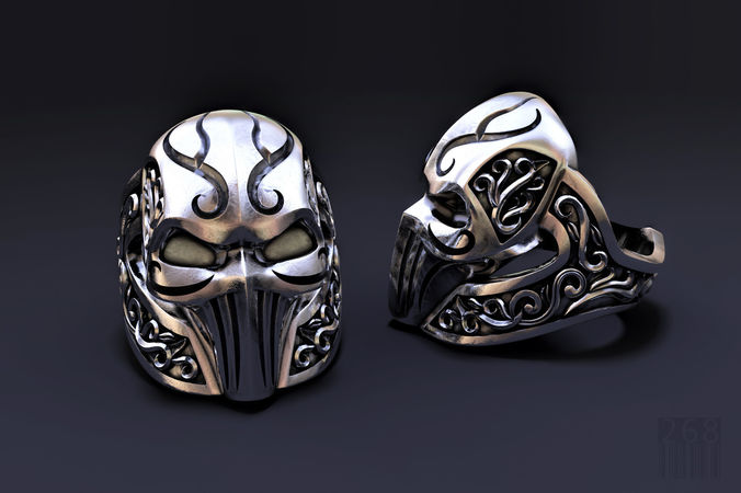ring mask with patterns