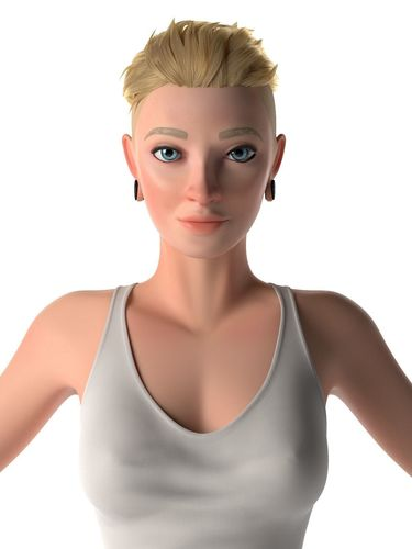 stylized woman 3d model 3d model low-poly obj mtl fbx ma mb mel 1
