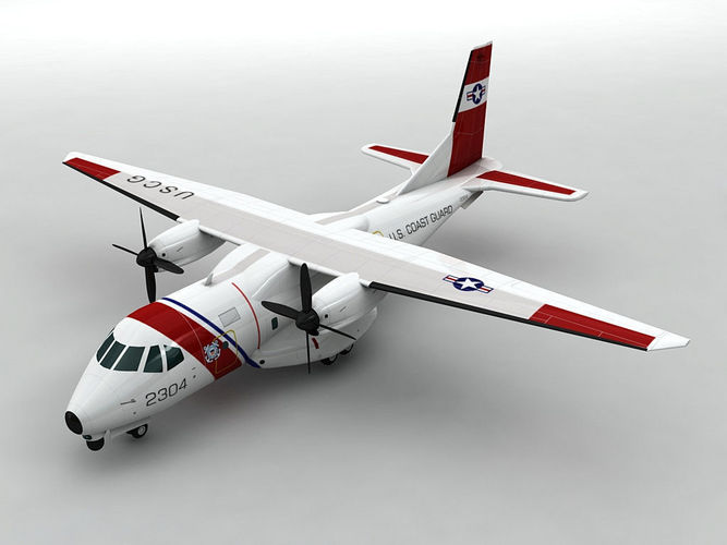 eads hc-144a ocean sentry aircraft 3d model low-poly max obj mtl 3ds dxf stl wrl wrz 1