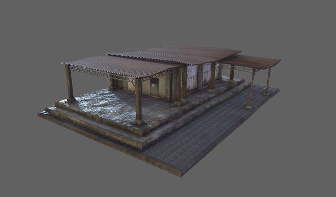 building 07 3d model low-poly max obj mtl fbx tga 1