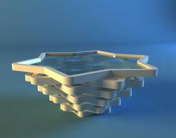 desk 3D modern table