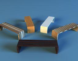 3D model desk modern table