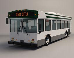 Low-Poly Cartoon City Bus 3D model