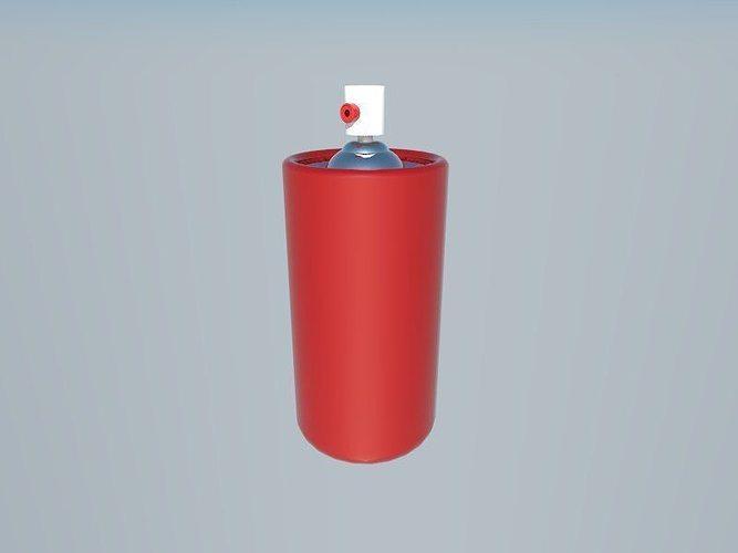 spray can 3d model low-poly obj mtl 3ds fbx 1