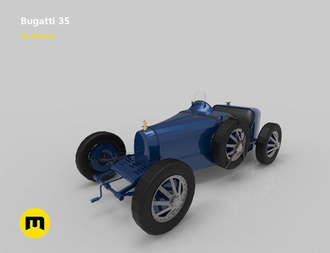 bugatti 35 3d model obj mtl stl 1
