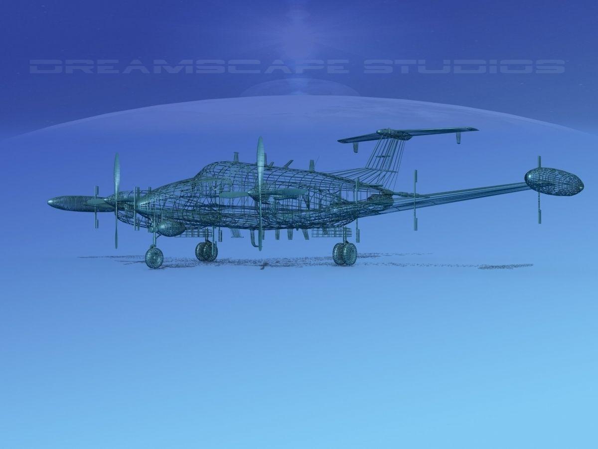 Beechcraft Rc 12n Guardrail Usaf 3 3d Model Rigged Max Obj