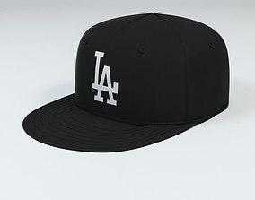 LA Dodgers Baseball Caps 3D model