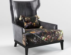 3D armchair - PN-302 - The Black Attitude - by Momenti