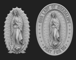 Our Lady of Guadalupe Medallion 3D printable model