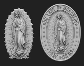 3D printable model Our Lady of Guadalupe Medallion Set