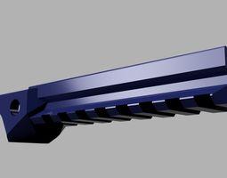 Airsoft P08 railed barrel and rail kit 3D print model