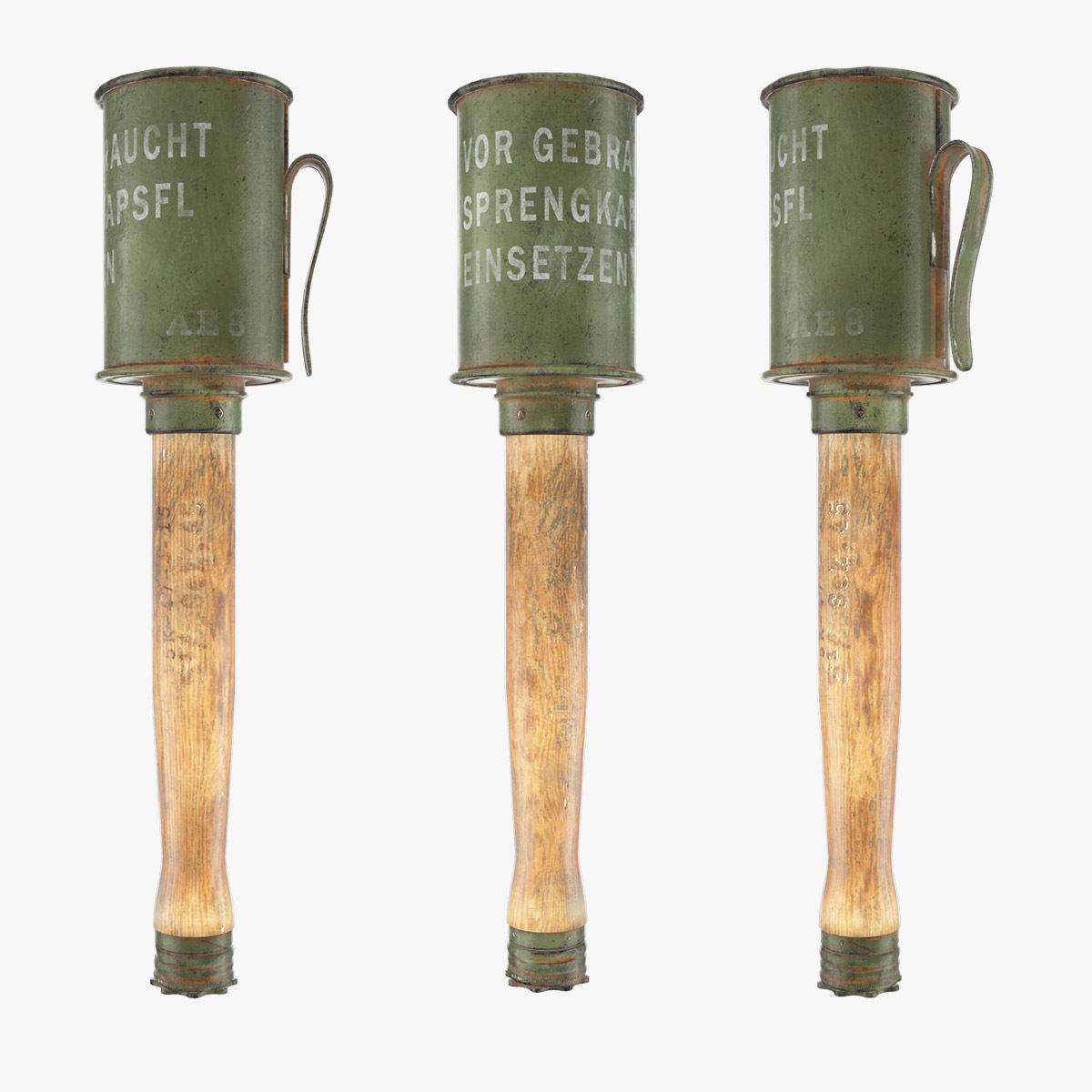 Anti Tank Stick Grenade | 3D model