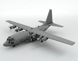 3D model game-ready Lockheed AC-130U Spooky Aircraft