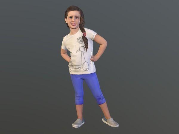 no95 - girl standing 3d model obj mtl stl 1