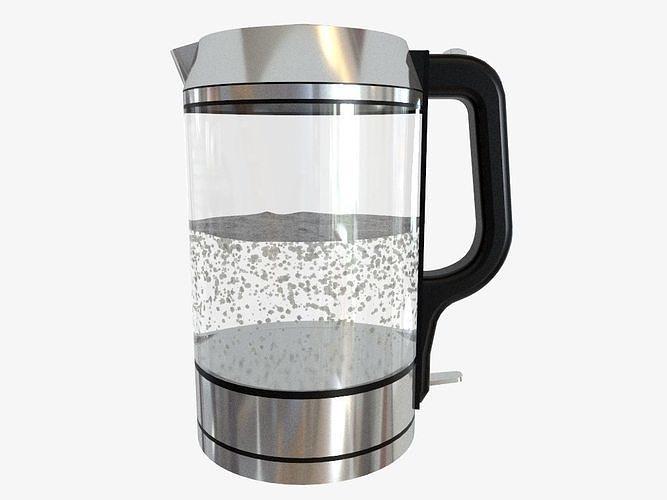 glass kettle 3d model obj mtl 3ds fbx dae skp 1