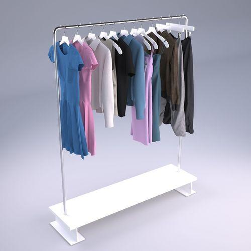 womens and mens wardrobe clothes 3d model max obj mtl 3ds fbx 1
