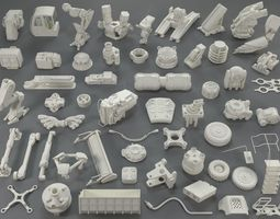 Kit bash - 57 pieces - collection-20 3D model