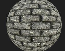Brick path 3D model