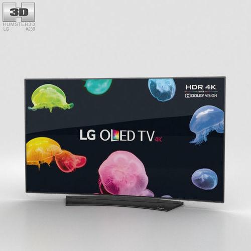 lg 55 oled tv c6 oled55c6v 3d model max obj mtl 3ds fbx c4d lwo lw lws 1
