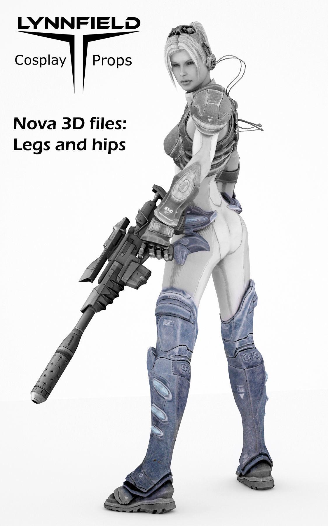 Nova legs from Starcraft HOTS 3D cosplay model | 3D Print Model