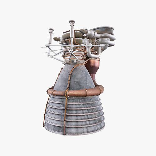 f1 rocket engine 3d model max obj mtl fbx 1