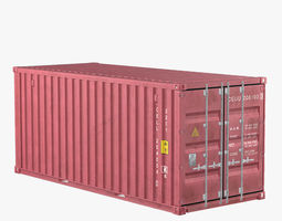 Container 20ft Red 3D model