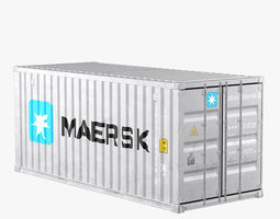 Container 20ft Grey 3D model