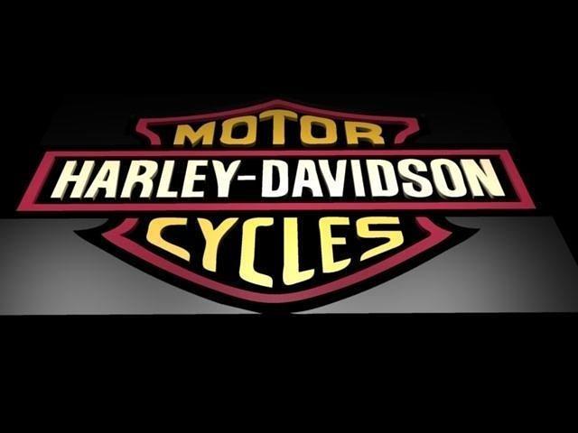 3d harley davidson logo cgtrader