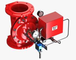 electric controlled valve 3d model